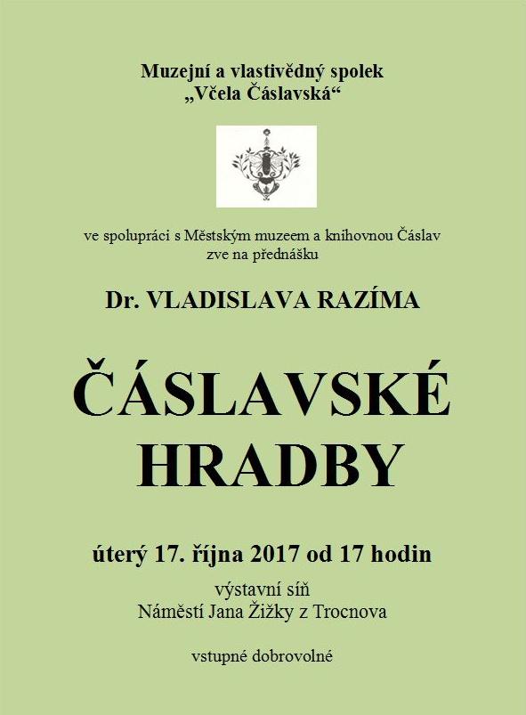 Přednáška 17.10. 2017- Čáslavské hradby