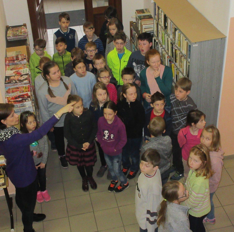 Děti ze Zbýšova v čáslavské knihovně 26.3.2019