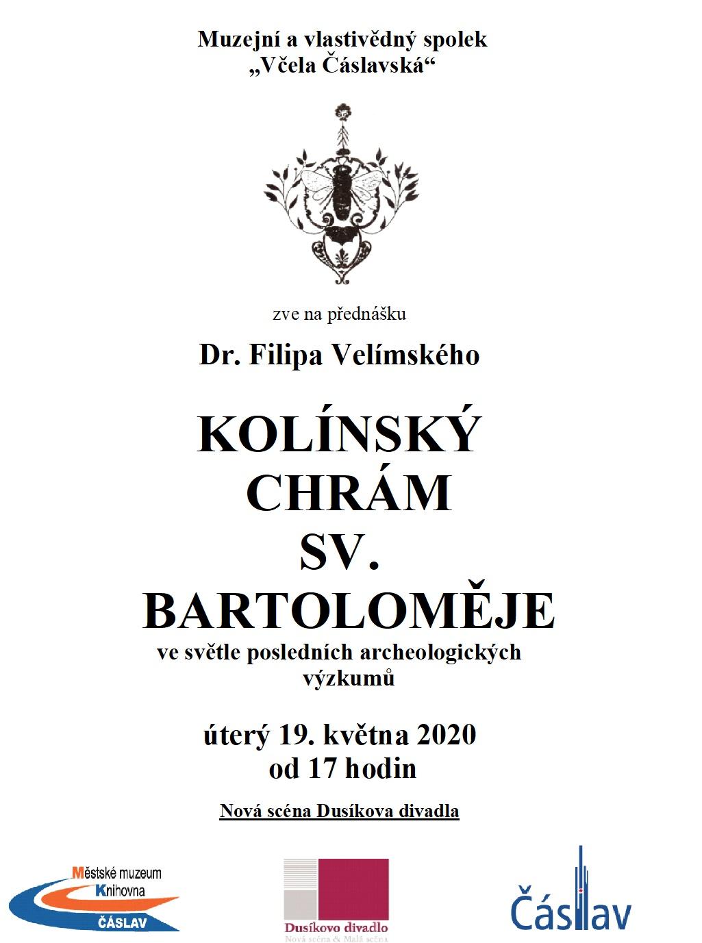 Přednáška Dr. Filipa Velímského: KOLÍNSKÝ CHRÁM SV. BARTOLOMĚJE
