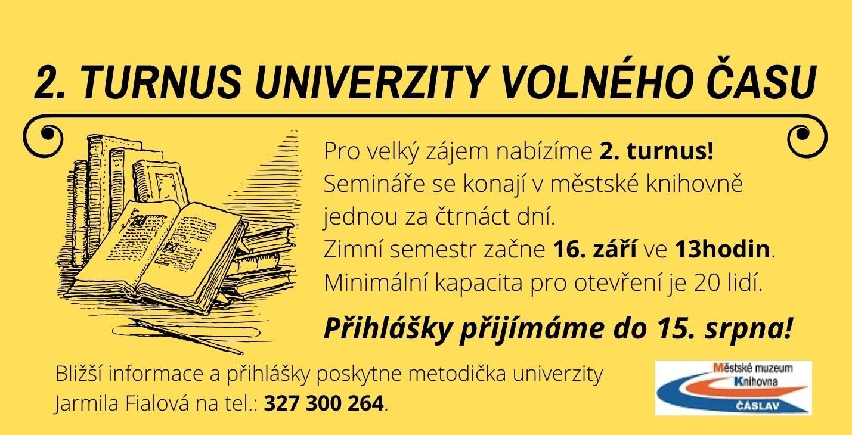 Nabízíme 2. turnus Univerzity volného času